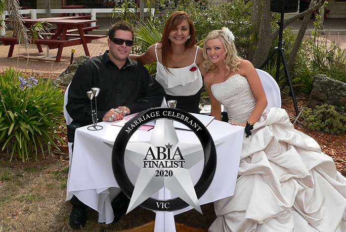 melbourne wedding celebrant 2020 abia finalist