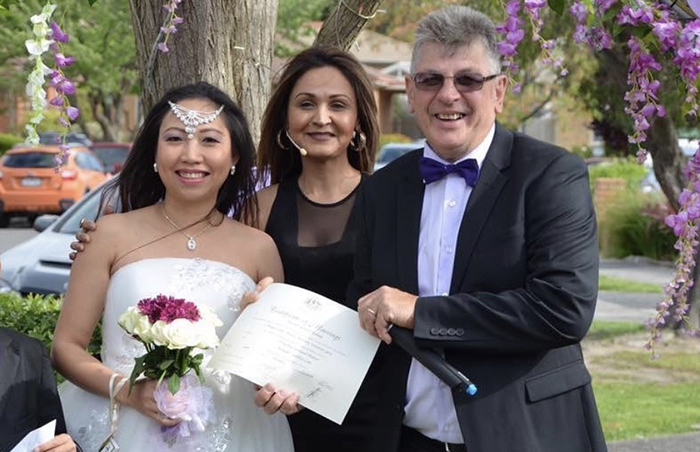 wedding at my home or yours melbourne celebrant